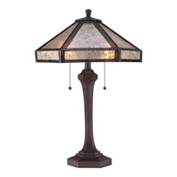 Quoizel Tiffany Fielding 2 Light Table Lamp in Russet MC1796TRS