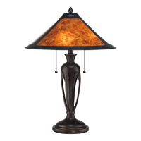 Quoizel Mica 2 Light Table Lamp in Imperial Bronze MC1797TIB