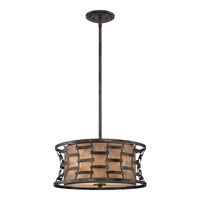 Quoizel Mica 3 Light Pendant in Mottled Silver MC1910MM