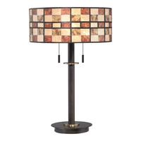 Mica 25 inch 60 watt Western Bronze Table Lamp Portable Light