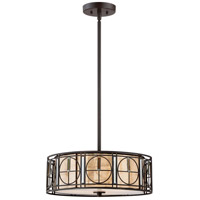 Quoizel MC2443WT Mica 3 Light 18 inch Western Bronze Chandelier Ceiling Light