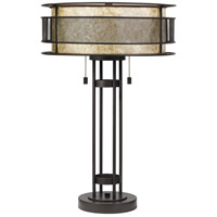 Quoizel MC4048WT Mica 25 inch 60 watt Western Bronze Table Lamp Portable Light