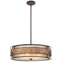 Laguna 4 Light 22 inch Renaissance Copper Pendant Ceiling Light, Naturals