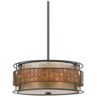 Laguna 3 Light 16 inch Renaissance Copper Pendant Ceiling Light, Naturals