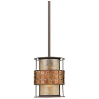 Quoizel MC842PRC Laguna 1 Light 6 inch Renaissance Copper Mini Pendant Ceiling Light, Naturals