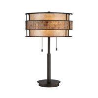 Quoizel MC842TRC Laguna 25 inch 60 watt Renaissance Copper Table Lamp Portable Light, Naturals