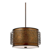 Quoizel Lighting Mica 3 Light Pendant in Renaissance Copper MC843CRC alternative photo thumbnail