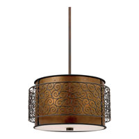 Quoizel Lighting Mica 3 Light Pendant in Renaissance Copper MC843CRC photo thumbnail