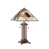Quoizel Lighting Mica 2 Light Table Lamp in Hazel Bronze MC969T