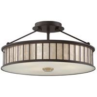 Belfair 4 Light 17 inch Western Bronze Semi-Flush Mount Ceiling Light in A19 Medium Base, Naturals