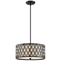 Boutique 3 Light 18 inch Mystic Black Pendant Ceiling Light
