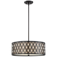 Boutique 4 Light 22 inch Mystic Black Pendant Ceiling Light, Naturals