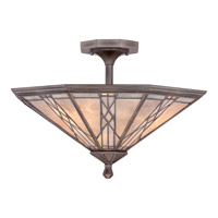 Quoizel Cyrus 3 Light Semi-Flush Mount in Anniversary Silver MCCS1720AS