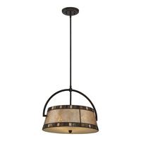 Quoizel Kingsford 3 Light Pendant in Teco Marrone MCKD2819TM