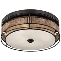 Laguna 3 Light 16 inch Renaissance Copper Outdoor Semi-Flush Mount, Naturals