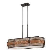 Quoizel MCLG337RC Laguna 3 Light 37 inch Renaissance Copper Island Light Ceiling Light, Naturals alternative photo thumbnail