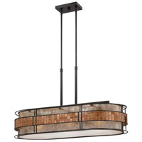 Quoizel MCLG337RC Laguna 3 Light 37 inch Renaissance Copper Island Light Ceiling Light, Naturals