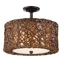 Quoizel Ruckman 3 Light Semi-Flush Mount in Palladian Bronze MCRM1716PN
