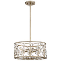 Meadow Lane 3 Light 16 inch Vintage Gold Semi-Flush Mount Ceiling Light