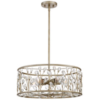 Meadow Lane 5 Light 20 inch Vintage Gold Pendant Ceiling Light