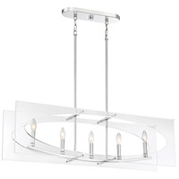 Quoizel MDP538C Midpoint 5 Light 39 inch Polished Chrome Island Chandelier Ceiling Light