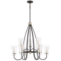 Midnight 9 Light 30 inch Western Bronze Chandelier Ceiling Light