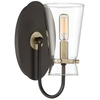 Quoizel MDT8701WT Midnight 1 Light 6 inch Western Bronze Wall Sconce Wall Light