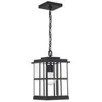 Quoizel MGN1908MBK Mulligan 1 Light 8 inch Matte Black Outdoor Hanging Lantern