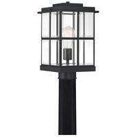 Quoizel MGN9008MBK Mulligan 1 Light 14 inch Matte Black Outdoor Post Lantern
