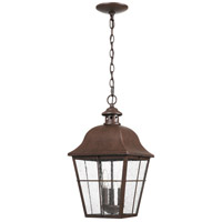 Millhouse 3 Light 10 inch Copper Bronze Outdoor Hanging Lantern, Large