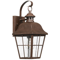 Quoizel MHE8406CU Millhouse 1 Light 16 inch Copper Bronze Outdoor Wall Lantern, Small