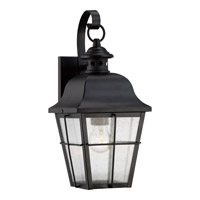 Millhouse 1 Light 16 inch Mystic Black Outdoor Wall Lantern in Fluorescent