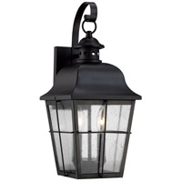 Quoizel Lighting Millhouse 2 Light Outdoor Wall Lantern in Mystic Black MHE8409K