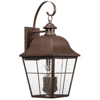 Quoizel MHE8410CU Millhouse 3 Light 22 inch Copper Bronze Outdoor Wall Lantern, Large