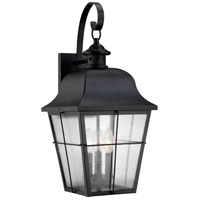 Quoizel Lighting Millhouse 3 Light Outdoor Wall Lantern in Mystic Black MHE8410K