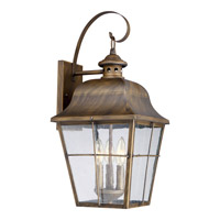 Millhouse 3 Light 10 inch Veneto Wall Lantern Wall Light