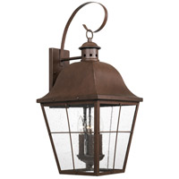 Quoizel MHE8412CU Millhouse 4 Light 27 inch Copper Bronze Outdoor Wall Lantern, Extra Large