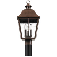 Quoizel MHE9010CU Millhouse 3 Light 22 inch Copper Bronze Outdoor Post Lantern, Large alternative photo thumbnail