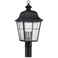 Quoizel Millhouse 3 Light Post Lantern in Mystic Black MHE9010K