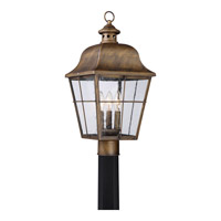 Quoizel Millhouse 3 Light Post Lantern in Veneto MHE9010VN