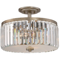 Quoizel MIR1715VG Mirage 3 Light 15 inch Vintage Gold Semi-Flush Mount Ceiling Light