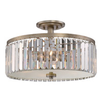 Quoizel Mirage 4 Light Semi-Flush Mount in Vintage Gold MIR1718VG