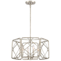 Quoizel MIS2820RB Mission 4 Light 20 inch Rubbed Silver Pendant Ceiling Light