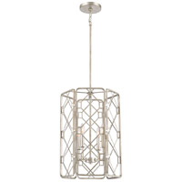 Quoizel MIS5204RB Mission 4 Light 16 inch Rubbed Silver Foyer Chandelier Ceiling Light