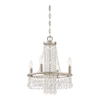 Quoizel MJT5004BN Majestic 4 Light 15 inch Brushed Nickel Chandelier Ceiling Light in B10 Candelabra Base