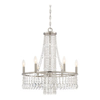 Majestic 6 Light 23 inch Brushed Nickel Chandelier Ceiling Light in B10 Candelabra Base
