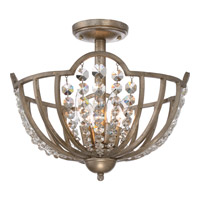 Majesty 4 Light 16 inch Vintage Gold Semi-Flush Mount Ceiling Light
