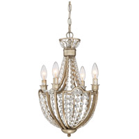 Majesty 4 Light 12 inch Vintage Gold Chandelier Ceiling Light