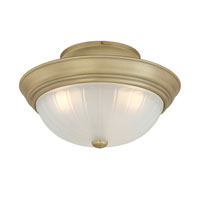 Quoizel Lighting Melon 3 Light Semi-Flush Mount in Antique Brass ML1615A alternative photo thumbnail