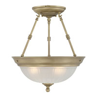 Quoizel Lighting Melon 3 Light Semi-Flush Mount in Antique Brass ML1715A alternative photo thumbnail